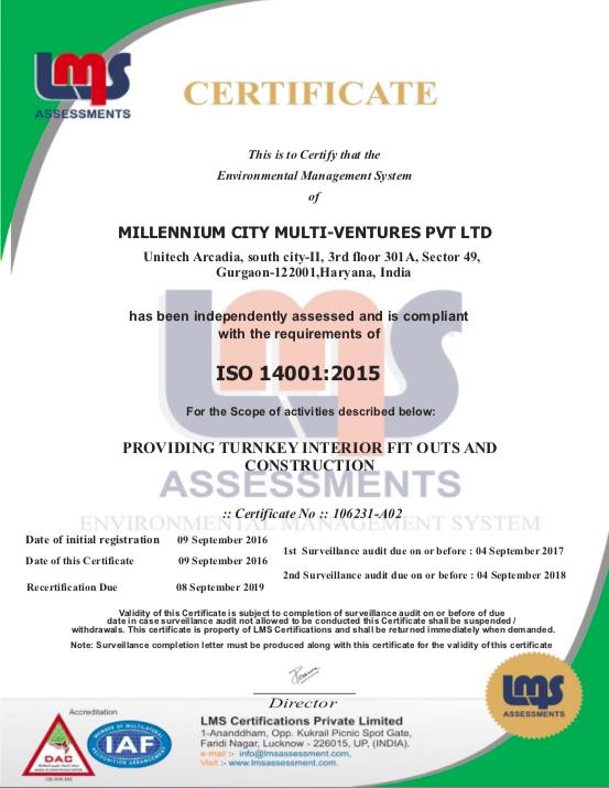 Certificates – Millennium Ventures